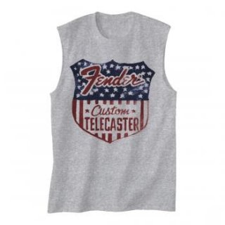 FENDER Stars N Stripes Shield, ノースリーブTシャツ (メンズ)