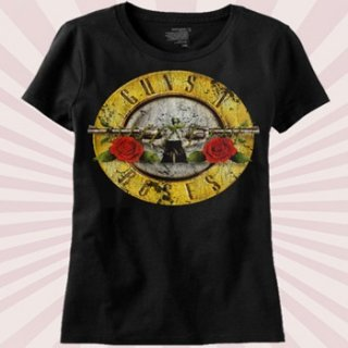 GUNS N' ROSES Distressed Bullet, Tシャツ