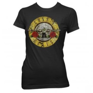 GUNS N' ROSES Distressed Bullet, レディースTシャツ
