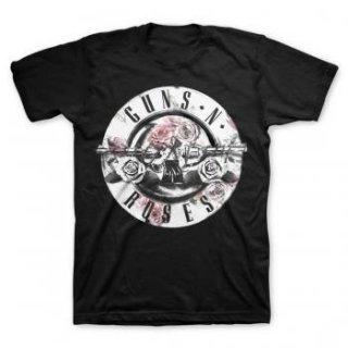 GUNS N' ROSES Floral Fill Bullet, Tシャツ