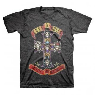 GUNS N' ROSES Cross On Charcoal, Tシャツ