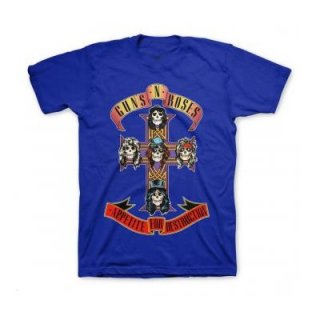 GUNS N' ROSES Cross On Royal, Tシャツ