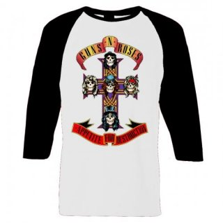 GUNS N' ROSES Appetite For Destruction, ラグラン七分袖シャツ