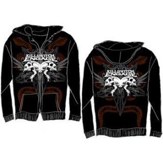 KILLSWITCH ENGAGE Skull, Zip-Upパーカー