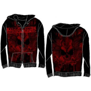 KILLSWITCH ENGAGE Splatter Skull AO, Zip-Upパーカー