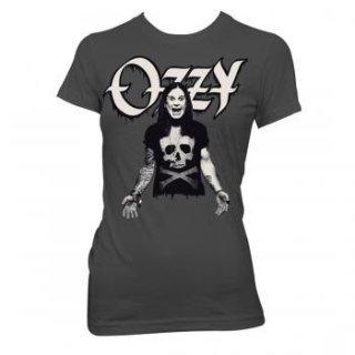 OZZY OSBOURNE Ozzy Wearing Skull And CB, レディースTシャツ