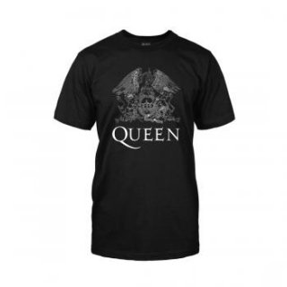 QUEEN White Logo On Black, Tシャツ