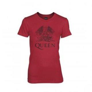 QUEEN Logo On Red Wmns, レディースTシャツ