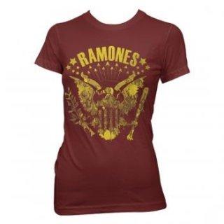 RAMONES Eagle Vintage, レディースTシャツ