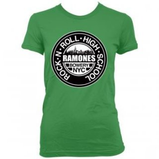 RAMONES Green Rnr HIGH School Jrs, レディースTシャツ