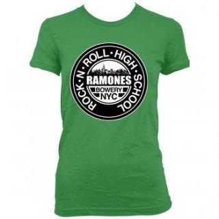 RAMONES Green Rnr HIGH School Jrs, レディースTシャツ