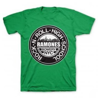 RAMONES Green Rnr High School, Tシャツ