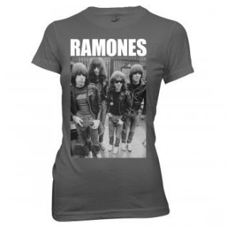 RAMONES Band Photo Logo, レディースTシャツ