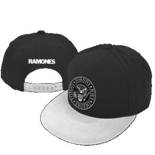 RAMONES Seal Black White, キャップ