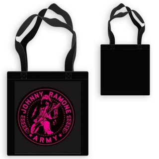 RAMONES Pink Jr Army Seal Black, トートバッグ