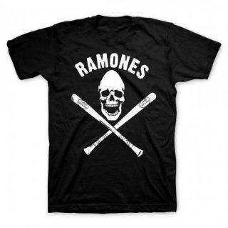 RAMONES Pinhead Skull With Bats, Tシャツ