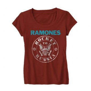 RAMONES Rocket To Russia Foil, レディースTシャツ