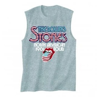 THE ROLLING STONES 81 Tour, ノースリーブTシャツ (メンズ)