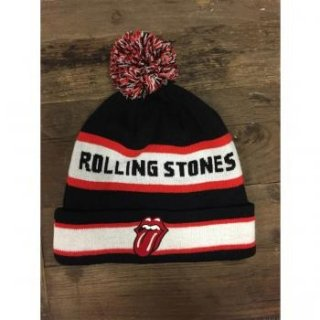 THE ROLLING STONES Name Logo, ニットキャップ
