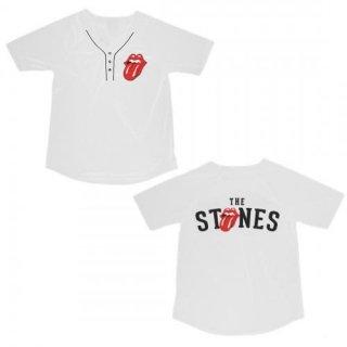 THE ROLLING STONES Name Logo, ベースボールジャージ(レディース)