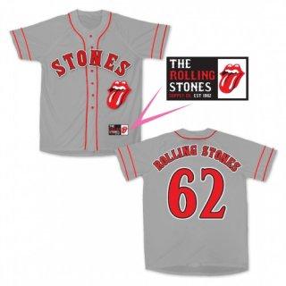 THE ROLLING STONES Stones GREY, ベースボールジャージ