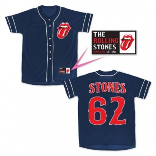 THE ROLLING STONES Stones NAVY, ベースボールジャージ