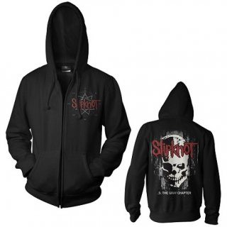 SLIPKNOT Skull Back, Zip-Upパーカー