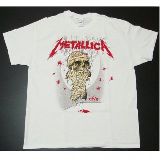 METALLICA One Landmine White, Tシャツ