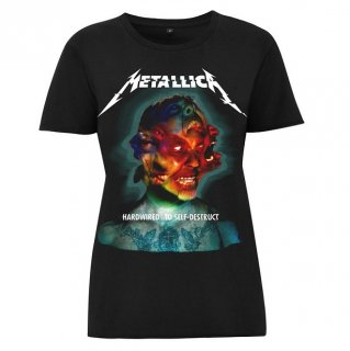 METALLICA Hardwired Album Cover, レディースTシャツ