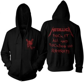 METALLICA No Regrets, Zip-Upパーカー