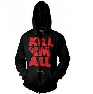 METALLICA Kill 'Em All Mutated, Zip-Upパーカー