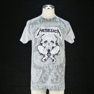 METALLICA Pushead Poster Ice Grey AO, Tシャツ