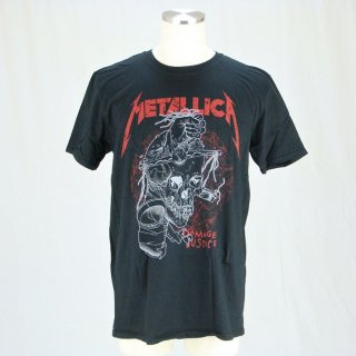 METALLICA Damage Justice Skull, Tシャツ