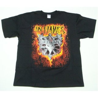 IN FLAMES Shield Flames, Tシャツ