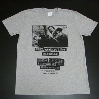 RAGE AGAINST THE MACHINE Flyer Heather GREY, Tシャツ