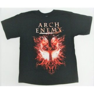 ARCH ENEMY Twin Skulls Dates, Tシャツ