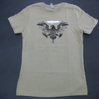 CARCASS Eagle Seal Olive, レディースTシャツ<img class='new_mark_img2' src='//img.shop-pro.jp/img/new/icons20.gif' style='border:none;display:inline;margin:0px;padding:0px;width:auto;' />