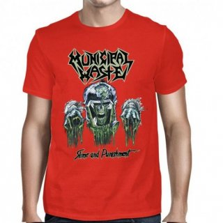 MUNICIPAL WASTE Slime And Punishment/Red, Tシャツ