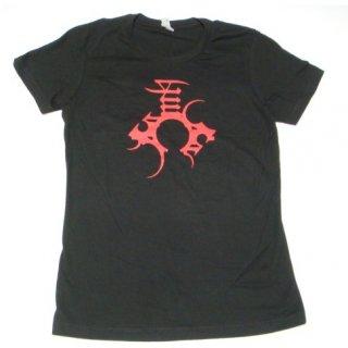 ENSLAVED Red Logo Back, レディースTシャツ