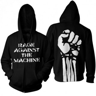 RAGE AGAINST THE MACHINE Large Fist, Zip-Upパーカー