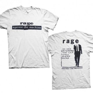 RAGE AGAINST THE MACHINE System Sucks White, Tシャツ