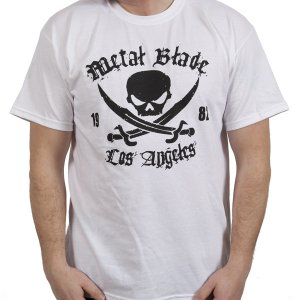 METAL BLADE RECORDS Pirate Logo Black on White, Tシャツ