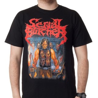 SERIAL BUTCHER A Crash Course In Cranimum Crushing, Tシャツ