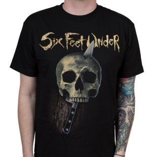 SIX FEET UNDER Skull and Knife, Tシャツ
