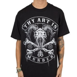 THY ART IS MURDER Baphomet Skull, Tシャツ