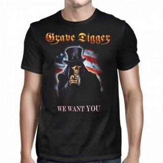 GRAVE DIGGER Uncle Sam 2016 Dates, Tシャツ