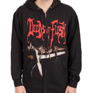 DEEDS OF FLESH Trading Pieces, Zip-Upパーカー