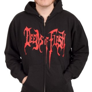 DEEDS OF FLESH Cannibal, Zip-Upパーカー