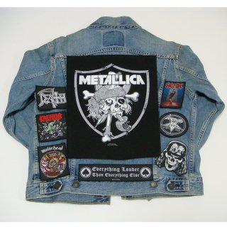 METALLICA Raiders Skull, バックパッチ