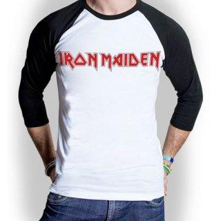 IRON MAIDEN Logo, ラグランロングTシャツ